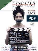 Programme de la 8ème édition du Festival MEME PAS PEUR