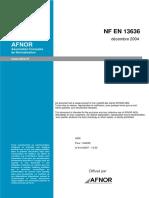 NF en 13636 Protection Cathodique Des Réservoirs Métalliques Enterrés Et Tuyauteries Associées