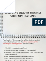 collective enquiry about students' learning