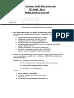 Ujian & Jawaban Pelatihan Audit Mutu Internal.