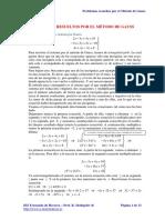Problemas Resueltos Del Metodo de Gauss
