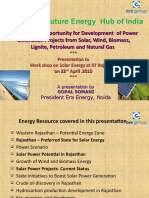 Rajasthan Energy Scenario IIT Power Ppt New 20 04 10