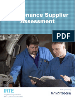 Maintenance Supplier Assessment Final
