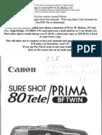 Canon Sureshot Prima Bf Twin
