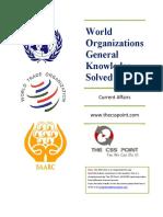 World Organizations General Knowledge MCQs Ver1