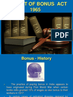 Payment of Bonus Act 19651