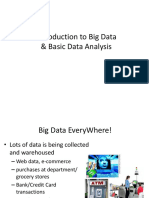 BigData and analysis