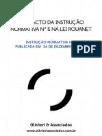 Manual - Nova Instrução Normativa da lai Rouanet INTRUÇÃO NORMATIVA Nº 5