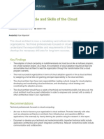 Analyzing the Role and Skills of Cloud Architect