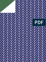 Printable Paper Herringbone Navy