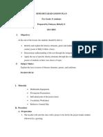 Semi-Detailed Lesson Plan for Grade 11 s