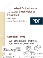General Guidelines for Structural Steel Welding Inspection
