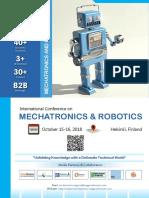 International Conference on Mechatronics & Robotics