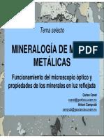 Propiedades de Los Minerales Opacos