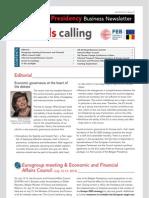 Brussels calling, Belgian EU Presidency, Business Newsletter, 06/09/2010, Issue 2