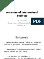 Evolution of International Business