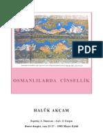 Haluk Akçam - Osmanlılarda Cinsellik