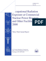 NUREG-0713 Occupational Radiation Exposure at Commercial NPPs and Other Facilities 2000