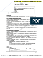 CBSE Class XI Accountancy - Rectification of Error