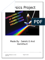 Prism Experiment Physics