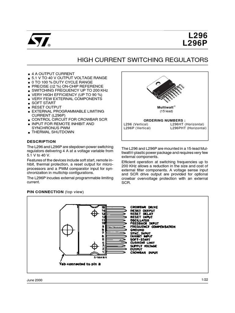 L296-L296P | Capacitor | Electrical Circuits