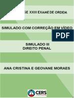 Processo Penal - Simulado III