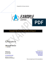 Example Health Check Report