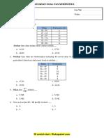 Latihan Soal UAS Matematika Kelas 11 Semester 1