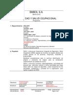 Programas, Procedimientos, Instructivos - Seguridad y Salud Ocupacional Red