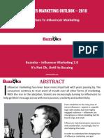 Buzzoka Influencer Marketing Outlook 2018 - Report