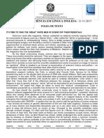 PROVA DE SUFICIÊNCIA EM LÍNGUA INGLESA UFG