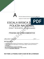 Simulacro 2 - Teoría - Cuerpo Nacional de Policia escala básica.