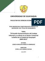 Peralta Jessica 2014. Estudio Socio-economico Del Trabajo Informal en Guayaquil