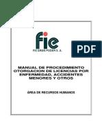 Manual de Otorgacion de Licencias, Accidentes y Otros