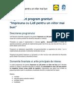 Regulament Grant Lidl 2018