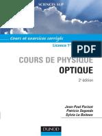 Cours de Physique Optique - Sylvie Le & Patricia Segonds & Jean-paul Parisot