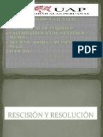 Diapositivas Rescisión y Resolución