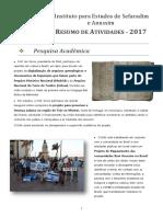 RESUMO de ATIVIDADES - 2017, Instituto Para Estudos de Sefaradim e Anussim