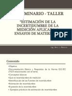 Seminario Taller-estimacion de Incertidumbre de Medicion