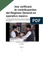 Impuestos Verificará Datos de Contribuyentes Del Régimen General en Operativo Masivo