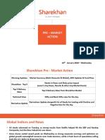 Sharekhan Pre Market Presentation 24th January 2018 Wednesday