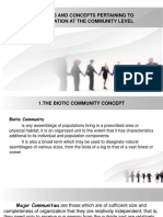 Priciples and Concepts Pertaining to Organization at the Community Level