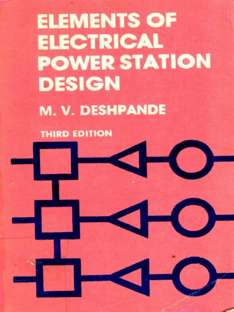 Electrical Power Station Design M V Deshpande Electric Power Distribution Power Station