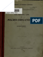 Binet, Alfred (1894) the Psychic Life of Micro-Organisms. a Study in Experimental Psychology (Weber's Law)