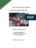 Plan Unico de Preescolar Santo Cristo 2011