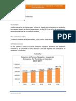 Pronostico Demanda Potencial Servicio Turistico Bogotá 2015