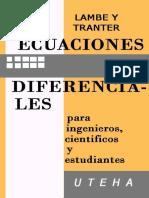 Ecuaciones Diferenciales Para Ingenieros, Científicos y Estudiantes - C. G. Lambe-LIBROSVIRTUAL.com