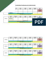Calendario de Actividades Fundamentos de la Administración