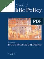 HB - 2006 - Londres - HandBook Public Policy