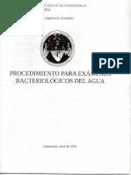 Procedimiento Para Exámenes Bacteriológicos Del Agua